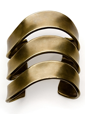 Elizabeth and James Concave Bangle $525