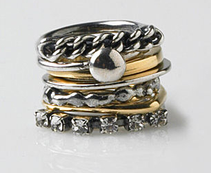IOSSELLIANI 7-RING STACK $280 lagarconne.com