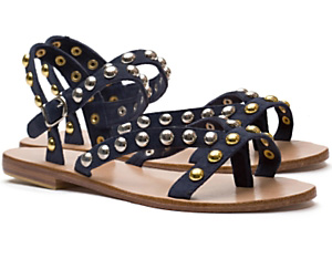 Mogil Suede Studded Flat Sandals $165 intermixonline.com