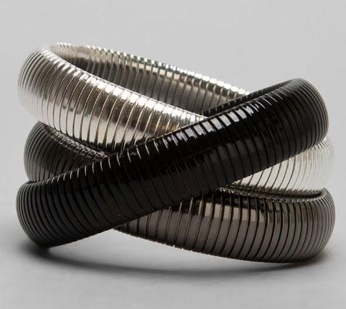 CC Skye Triple Cobra Bangle $132 revolveclothing.com